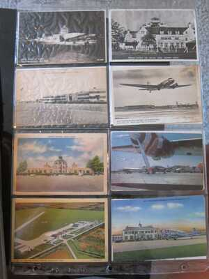 228 Vintage Postcards, US AIRPORTS, 1930's-1950's Terminals Early Planes