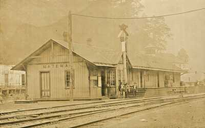 Postcard: Early 1900's View of Railway Depot, Matewan, West Virginia