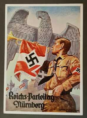GERMAN EMPIRE THIRD REICH ORIGINAL POSTCARD NUREMBERG RALLY 1935 VERY RARE