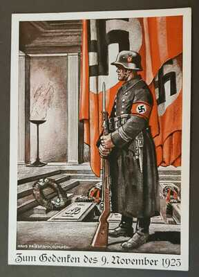 GERMAN EMPIRE THIRD REICH ORIGINAL POSTCARD 9th NOVEMBER REMEMBRANCE 1935