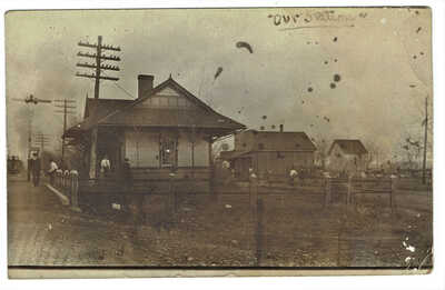 Springhill Tennessee RPPC of train station posted 1908