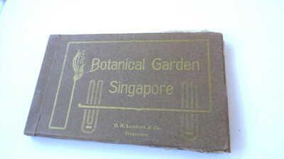 """SINGAPORE ±1920 compl. booklet (20 PC's) """"Botanical Garden Singapore""""     Rare!"""