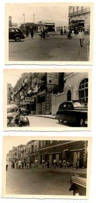 3 old HONG KONG PHOTO 's China Street signs Tramway / tram Coolies cars Hongkong