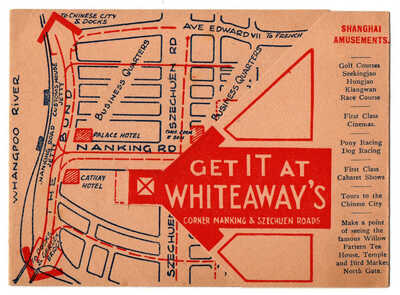 Old SHANGHAI Whiteaway Department Store w/ map Advertising Booklet Nanking CHINA