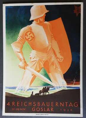 GERMAN EMPIRE 3rd REICH ORIGINAL PPC GOSLAR 4th REICHSBAUERNTAG 1936 VERY RARE