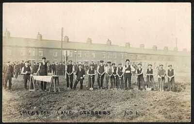 POSTCARD, 1909, LAND GRABBERS, WALNUT STREET,  LEICESTER, LEICESTERSHIRE, RP.