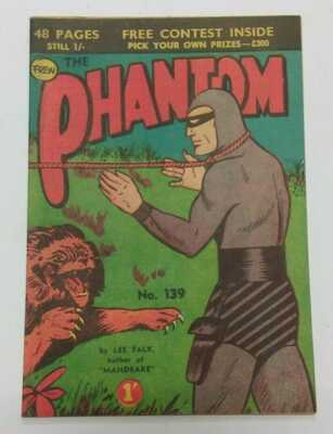 Australian Frew Phantom Comic No. 139 Very Fine Published 1958 Bagged & Boarded
