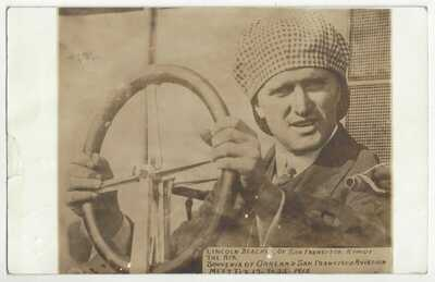 1912 Oakland - San Francisco Aviation Meet RPPC Lincoln Beachey in Plane