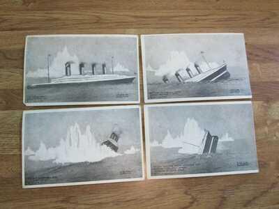 Antique United States Publishing Co. Postcards-The Titanic-Set of Four-