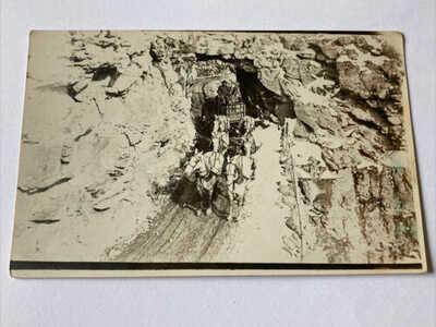 c1919 RPPC Horses Wagon Coach Dirt Road Telluride Colorado Real Photo Postcard
