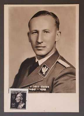 GERMANY THIRD REICH ORIGINAL POSTCARD REINHARD HEYDRICH VERY RARE