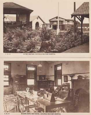 VINTAGE POSTCARD 12 X  CAULFIELD MILITARY HOSPITAL  EARLY ROSE POSTCARDS 1920