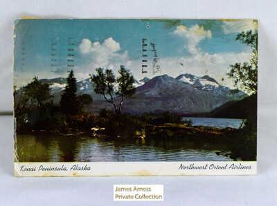 James Arness Gunsmoke Marshal Dillon  Alaskan Post Card (From Jim to Daughter)