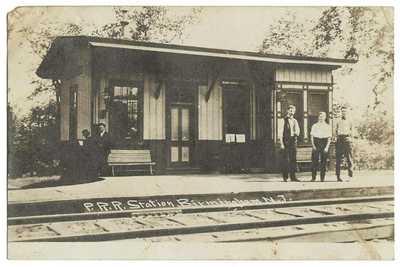 RPPC Real Photo Postcard Pennsylvania Railroad Station Birmingham, N.J.