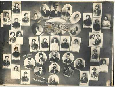 ARMENIA,GREECE,TURKEY:1913 A COMBINED PHOTO WITH  PORTRAITS OF ARMENIANS .