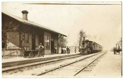RPPC Real Photo Postcard Railroad Train Station Depot Star City, Indiana In.