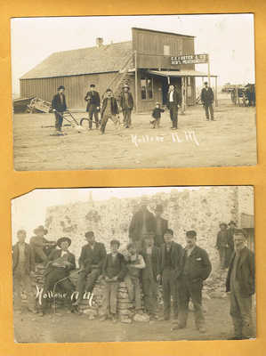 REAL PHOTO, 1910 ERA - HOLLENE, NEW MEXICO - FOSTER & CO. STORE +EXTRA POSTCARD