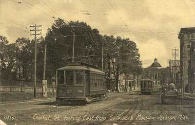 Jackson, Miss. - Capitol Street Looking East From Governor's Mansion - 1907