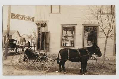 HERNANDO, MISSISSIPPI MS - EL MONGER GROCERY & Delivery RPPC Real Photo Postcard