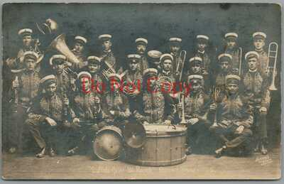 BUFFALO BILL ~ 101 RANCH ~ CONCERT BAND ~ 1916 ~ HORNER PHOTO ~ RPPC POSTCARD