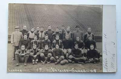 1909 University of Michigan Varsity Squad RPPC, Ann Arbor