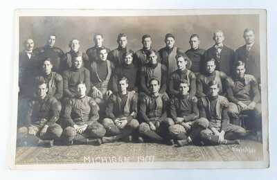 1907 University of Michigan Football Team, Ann Arbor RPPC