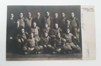 University of Michigan Football Team, Ann Arbor, MI RPPC