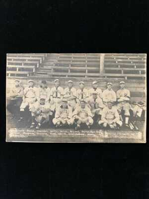 VINTAGE SEATTLE BASEBALL TEAM RPPC FRED MCMULLEN 1919 BLACK SOX SCANDAL