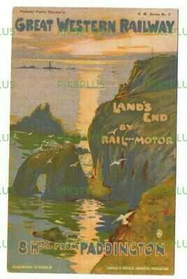 POSTCARD GREAT WESTERN RAILWAY OFFICIAL POSTER ADVERT G.W. SERIES No.3 USED 1908