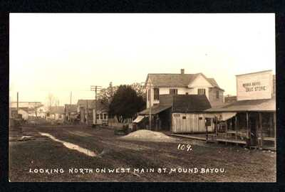 Miss: LOOKING NORTH ON WEST MAIN ST., MOUND BAYOU  ~  RPRC