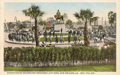 1915 Dedication of Beauregard Monument With Confederate Veterans, New Orleans