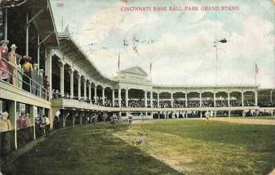 Cincinnati Baseball Palace Of The Fans Grandstand Players 1908 OH DB VTG P113