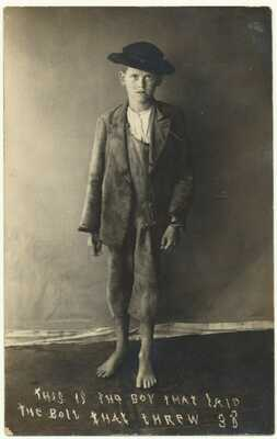 Early Real Photo Postcard 1908 BUFORD Georgia Boy Derails Train Wreck Railroad