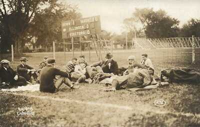 RPPC 1918 Illinois vs Chanute Field Football Game - HOF Coach Zuppke & Team