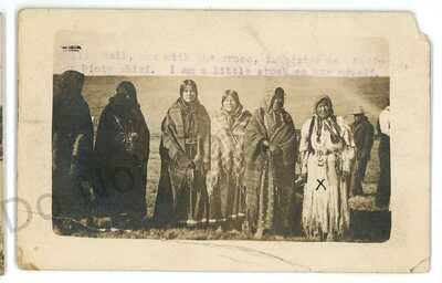 RPPC Sallie Bell PAIUTE Native American Indians CA NV 1915 Real Photo Postcard