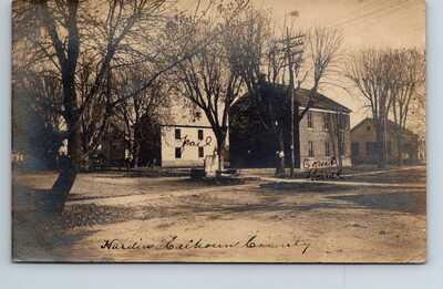 RPPC Real Photo Postcard Court House Jail Calhoun County Hardin Illinois Posted
