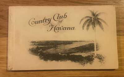 Rare 1920 Country Club of Havana, Cuba Golf Course Postcard Folder with 12 Views