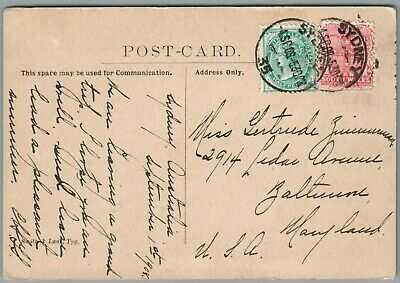 GREAT WHITE FLEET ~ SYDNEY, AUSTRALIA, NSW SEPT 4, 1908 POSTAL HISTORY POSTCARD
