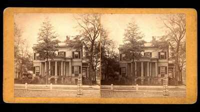 Georgia ~  Hardies Residence in Savannah, Ga. 1870's. By Wilson 48.