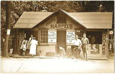 RPPC Real Photo Postcard Of Harpel's Park Studio (Sam Harpel) Mount Gretna, PA