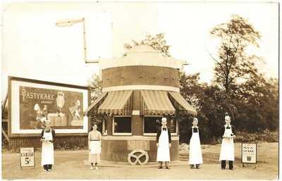 RPPC Real Photo Postcard Of Shuey Pretzel Hut 11th Maple Lebanon, PA Lebanon Co.
