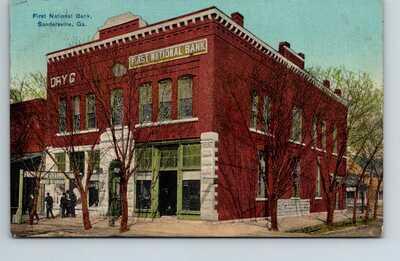 postcard First National Bank Sandersville Georgia