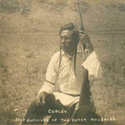 "NE; ""CURLEY, SOLE SURVIVOR OF THE CUSTER MASSACRE"". By Rinehart, Omaha, Neb."