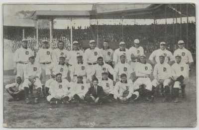 Detroit,Michigan-Bennett Park-Home of Ty Cobb-1907-African American Mascot jjh15