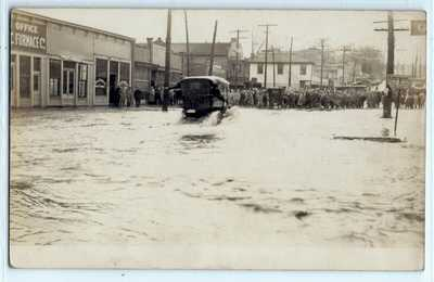 1913 Wabash River flood, Lafayette, Indiana; photo postcard RPPC history