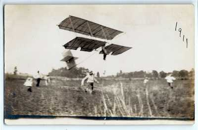 1911 early aviation airplane Boxkite? Terre Haute, Indiana; photo postcard RPPC