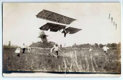 1911 early aviation airplane Boxkite? Terre Haute, Indiana; photo postcard RPPC