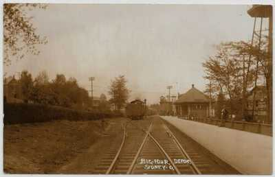 Sidney,Ohio-Big Four Railroad Depot-RR Station-c1908 Real Photo jh30