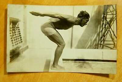 DUKE KAHANAMOKU Olympic Gold Medalist HAWAII Photo Postcard rppc AZO 1924 SURFER