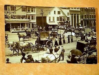 SUFFRAGETTES PARADE FOR VOTE Houlton Maine ME 1913 Photo Postcard Social History